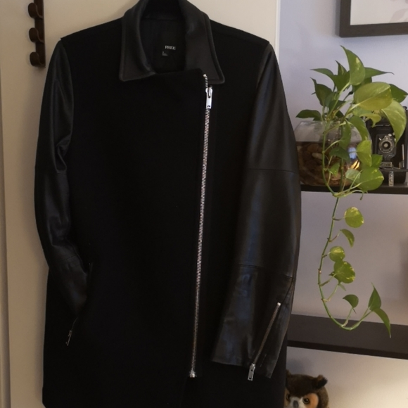 Wilfred Free Leather/Wool Jacket